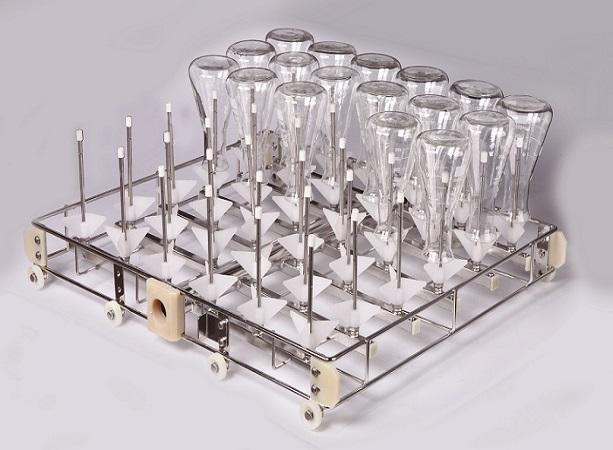 36位清洗架 (2).jpg 燒杯、容量瓶、錐形瓶等不一樣的清洗方式 公司動態 第2張