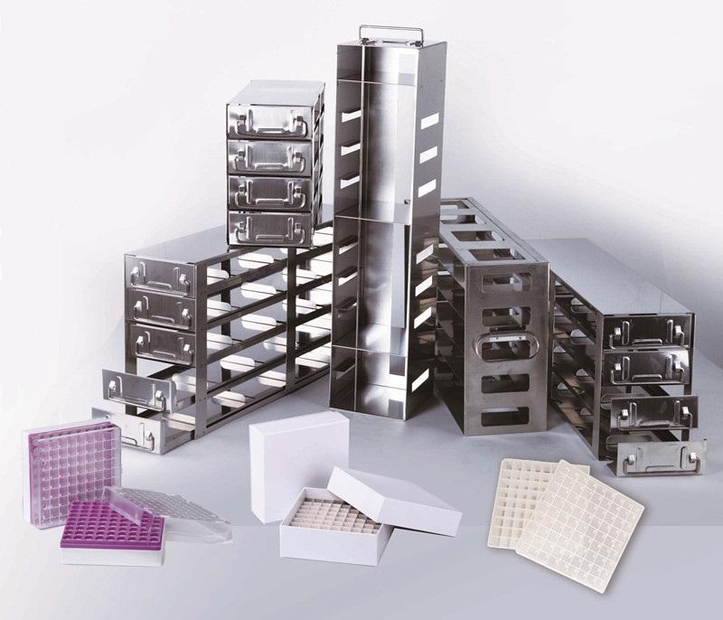 凍存架合影xiao.jpg 供應低溫不鏽鋼凍存架及凍存盒 低溫凍存架 第1張